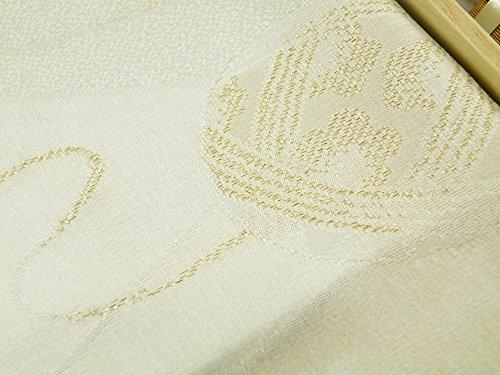 礼装用 正絹 手組紐 織細金銀糸使用 帯締め 縫取り 帯揚げ 金銀扇子 亀 4点セット 留袖用 桐箱入り (手毬(t-10))