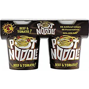 Pot Noodle Beef & Tomato Flavour (4x90g) ポットヌードル牛肉とトマトの味( 4X90G )