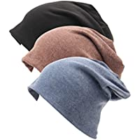 Luccy K Unisex Indoors 100% Cotton Beanie- Soft Sleep Cap for Hairloss, Cancer, Chemo