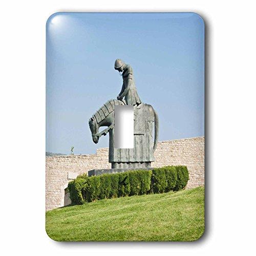 3drose LSP _ 82192_ 1イタリア、ウンブリア、Assisi大聖堂、自由の女神像聖フランシスeu16rti0066RobティレーSingle切り替えスイッチ