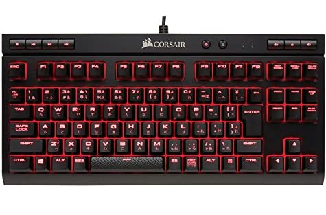Corsair K63 Red LED -日本語キーボード- [Cherry MX Redキースイッチ採用 コンパクト テンキーレスゲーミングキーボード] KB395 CH-9115020-JP