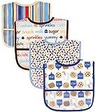 アメリカで人気! Luvable friends 食事用 防水 ビブ スタイ ベビー ポケット付 エプロン 4枚組 ルバブルフレンズ (ミルク&クッキー)