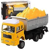 Kikole ミニプルバックシミュレーション構造 消防車 トラック モデル 子供のおもちゃ 車 プッシュ&プルトイ SVM033227_3*#@@
