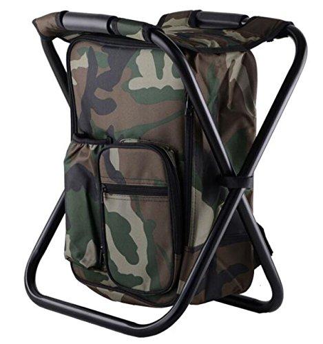 バックパックチェア 椅子付リュック アルミフレーム 折りたたみチェア 超軽量 耐荷重150kg 防水保温保冷
