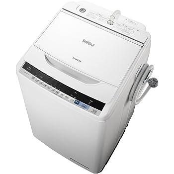 日立 全自動洗濯機 ビートウォッシュ 8kg ホワイト BW-V80B W