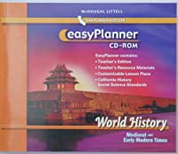 World History California Medieval and Early Modern Times Easy Planner Cd-rom Grade 7