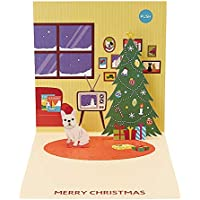サンリオ クリスマスカード 洋風 ライト&メロディ ポップアップ 槇原敬之 家にフレンチブルドッグ S7303