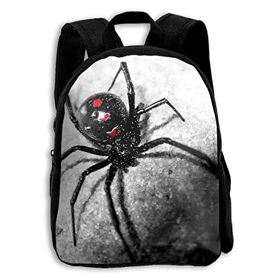 不快な使役ピルキッズ バックパック 子供用 リュックサック 蜘蛛 スパイダー ショルダー デイパック アウトドア 男の子 女の子 通学 旅行 遠足