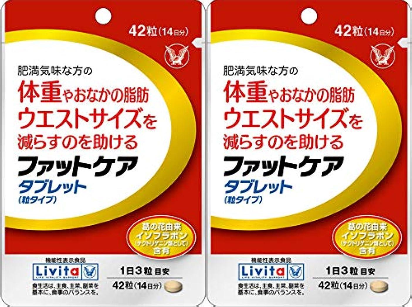 眼叙情的なアジア人【2個セット】ファットケア タブレット 42粒(機能性表示食品)
