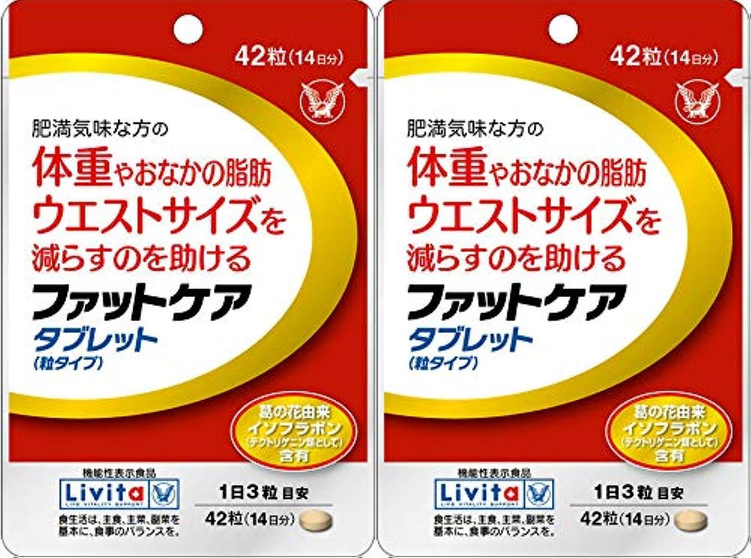 税金振り返る減る【2個セット】ファットケア タブレット 42粒(機能性表示食品)