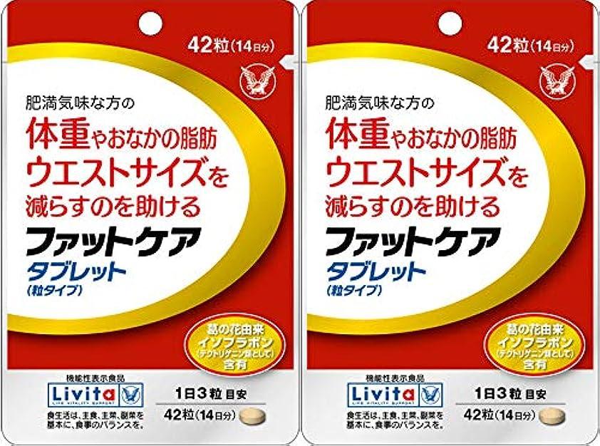 一時停止素子タック【2個セット】ファットケア タブレット 42粒(機能性表示食品)
