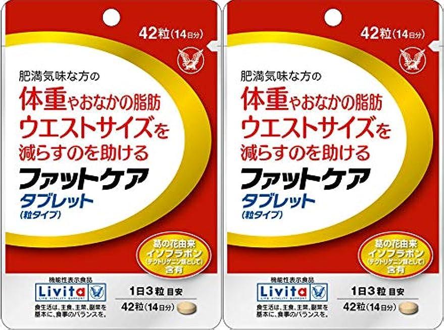 影検体角度【2個セット】ファットケア タブレット 42粒(機能性表示食品)