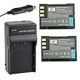 DSTER アクセサリーキット Olympus BLM-1 互換 カメラ バッテリー 2個+充電器キット対応機種 E-300 E-500 E-510 C-7070 C-8080 E-30 E-520