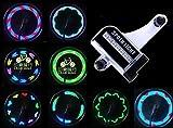 【時間経過で光の模様が変化】タイヤを回すと綺麗な光の模様ができる ユニークアイテム 自転車ホイールLEDライト 取付簡単カスタマイズ 事故防止 反射板 オシャレ 学生 通勤 通学