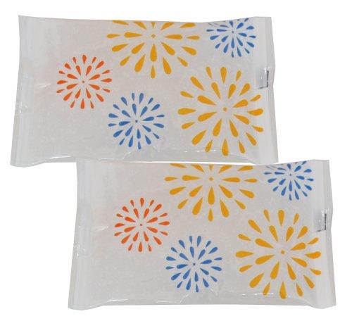 Pocket Cool 手のひらサイズの保冷剤 てぬぐい 花火 2個セット
