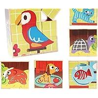 Tuersuer 早期子供用 おもちゃ クリエイティブ デザイン 木製 アニメ パズル 早期学習 数字の形 カラー 動物玩具 子供への素晴らしいギフト (ペット)