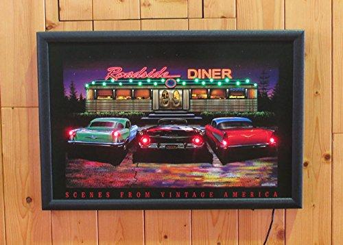 RoomClip商品情報 - LED ネオンピクチャーLサイズ 【 Roadside DINER 】 NEON PICTURE LEDパネル アメリカ雑貨