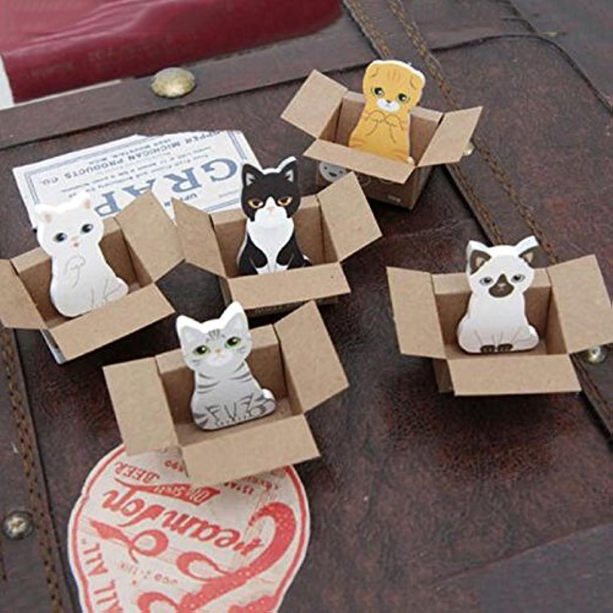 こどもの宮殿引き付けるプレートJicorzo - 3pcsの/たくさんおかしい犬猫ステッカーホームデコレーションかわいい表デスクトップ装飾装飾は、それが紙に注意してください投稿します