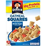 Quaker Oatmeal Squares, Brown Sugar, Crunchy Oat Breakfast Cereal, 14.5oz Box
