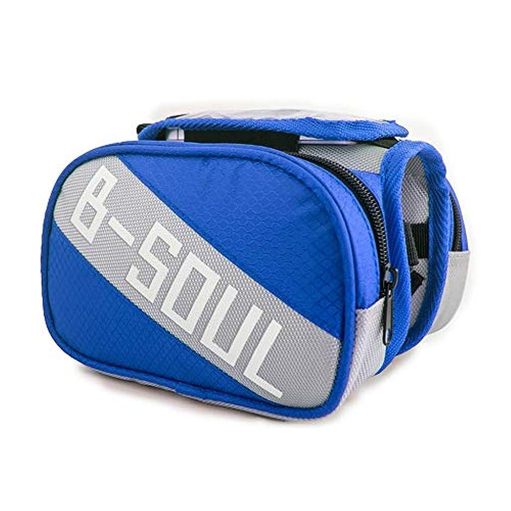 医師適用する不幸サイクリングフレームバッグ 自転車フロントチューブフレームバッグタッチスクリーン対応電話4色自転車パニエバッグ 電話収納バッグ (Color : Light blue, Size : 10.5