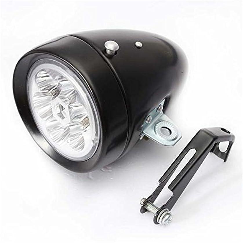 押すフルート接続詞充電式自転車ライト レトロ自転車ライト6LEDフロントビッグデッドフライバイクヘッドライト超明るい自転車ヘッドライト
