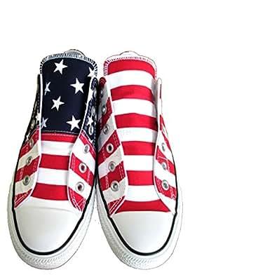 WHITE// コンバース ALL STAR 100 PAIRFLAG SLIP OX ペアフラッグ スリップ オールスター 100 32862644 GREEN// RED 【CONVERSE】 オックス