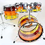 Ludwig ラディック/Vistalite 22BD 4pieces Kit 3 Band Rainbow (コンビネーションスタンド付属)