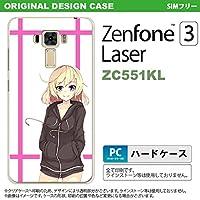 ZC551KL スマホケース ZenFone 3 Laser ZC551KL カバー ゼンフォーン3 キャラB ピンク nk-zc551kl-1327