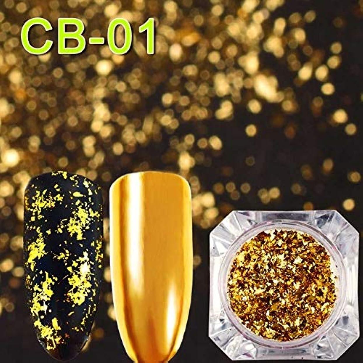 シュート柔和キロメートルCELINEZL CELINEZL 3 PCSマジックミラーカメレオングリッターネイルフレークスパンコール不規則なネイルデコレーション(CB01) (色 : CB01)