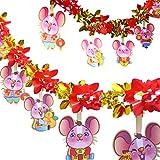 3M Pullout Tinsel Garland Decoration Banner - Zodiac Rat Diecut