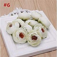 FidgetGear New Silk Rose Flower Head Artificial Wedding Car DIY Decoration Spring Wreaths #6 4.5cmx3.5cm