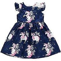 Wang Xiang Toddler Baby Girls Tunic Dress Swing Casual Sundress Princess Dress
