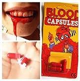 幸せな 血のりカプセル 超リアル ドッキリ・ハロウィン・お化け屋敷・イベント・舞台等に大活躍 小物 おもちゃ ビックリする ちょっといたずら 安全 無毒性 9錠1セット