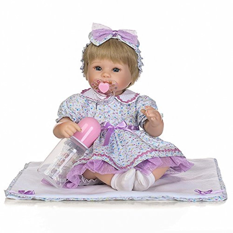 scdoll Lifelike赤ちゃん人形、ビニール新生児幼児Reborn Dolls with Magneticおしゃぶり美しいプリンセス女の子Play Toy 16インチ40 cm