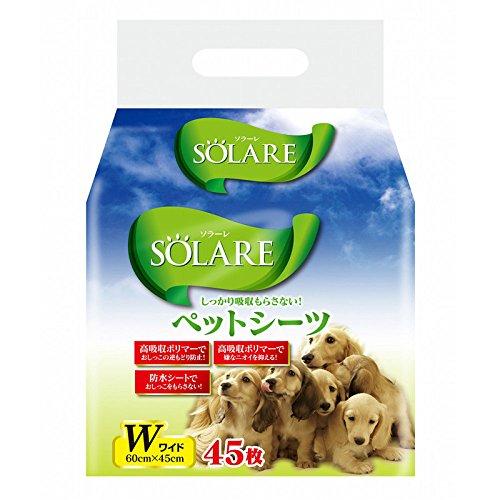 ソラーレ ペットシーツ ワイド 45枚入...