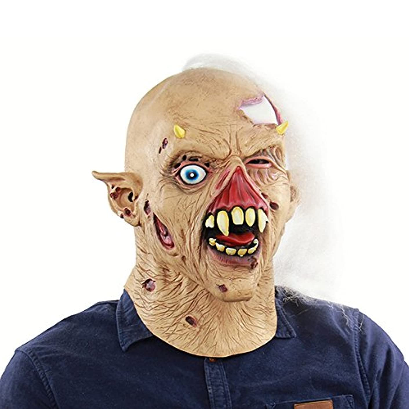 アパル俳優哀れなハロウィーンホラー、ゾンビラテックスゴーストマスク、お化け屋敷ドレッシングヘッドギア