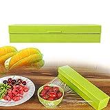PerPure サランラップカッター ラップホルダー ラップ24cm用 サランラップ収納 冷蔵庫 キッチン用品 鮮度を保つ フィルム 食物 ラップ ホイル 蝋紙 (グリーン)