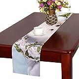 GGSXD テーブルランナー すばやい サモエド犬 クロス 食卓カバー 麻綿製 欧米 おしゃれ 16 Inch X 72 Inch (40cm X 182cm) キッチン ダイニング ホーム デコレーション モダン リビング 洗える