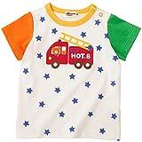 ミキハウス ホットビスケッツ(MIKIHOUSE HOT BISCUITS) 働く車&ドットハート☆半袖Tシャツ 70cm マルチ 72-5201-959