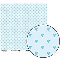 パターンペーパー K Blue heart (5枚1パック)