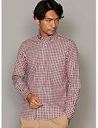 ユナイテッドアローズ グリーンレーベル リラクシング ワイシャツ NM 80/2 ツイル ギンガムチェック ボタンダウン シャツ 32111662503 メンズ