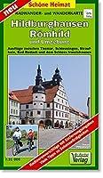 Hildburghausen, Roemhild und Umgebung Radwander- und Wanderkarte: Ausfluege zwischen Themar, Schleusingen, Straufhain, Bad Rodach und dem Schloss Irmelshausen. Massstab 1:35000