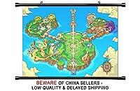 Fantasy LifeニンテンドーDSゲームファブリック壁スクロールポスター( 32x 19)インチ