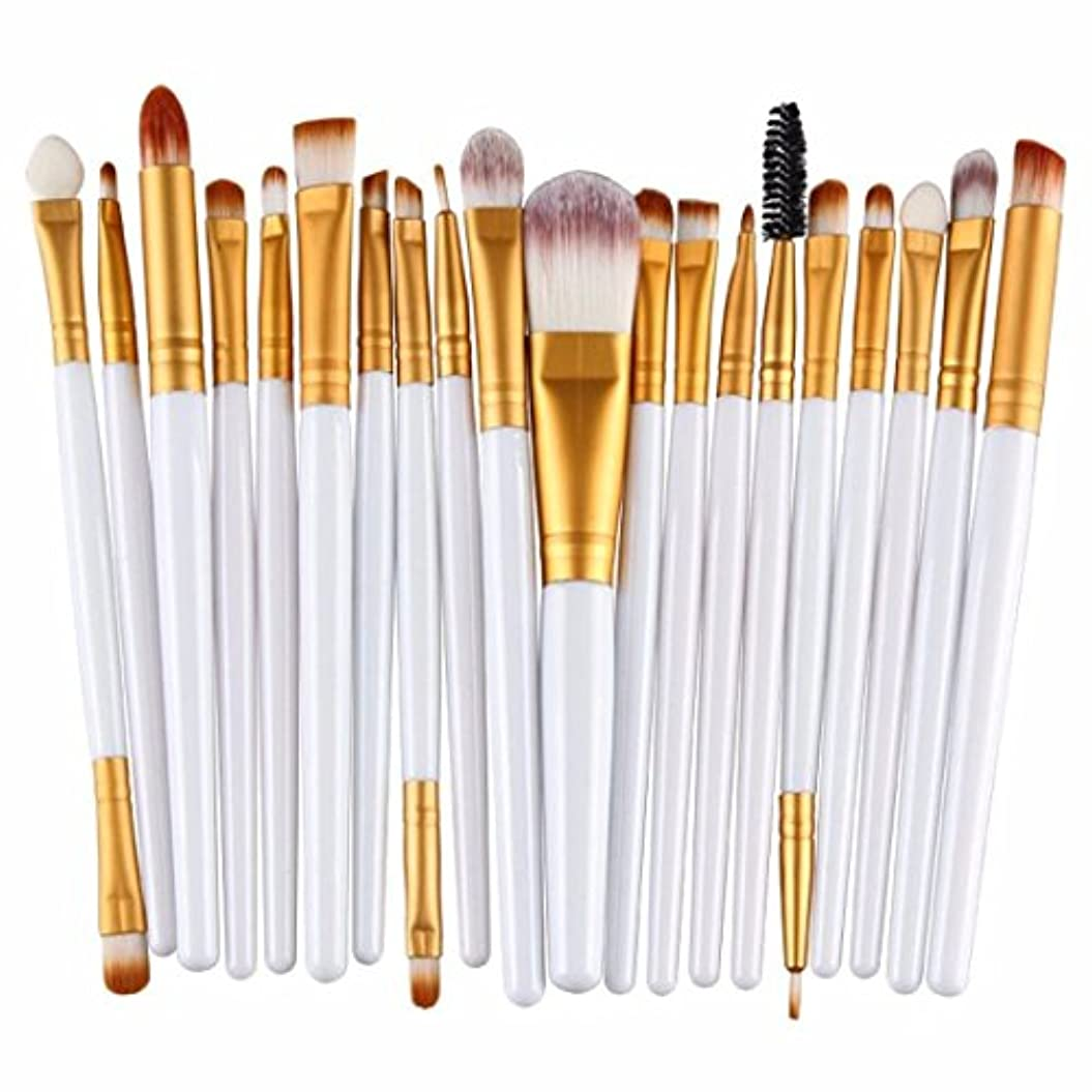 Doitsa プロメイクアップブラシ メイクブラシセット 化粧筆 メイクツール 高級メイクブラシ 化粧ブラシ ファンデーションブラシ コンシーラーブラシ 多機能 アイシャドウブラシ 金色+白