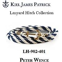 KIEL JAMES PATRICK(キールジェイムスパトリック) kjp-042 ロープ ブレスレット Lanyard Hitch Collection PETER WENCE(NVY/WHT) LH-902-401