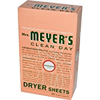ミセス メイヤー ドライヤーシート ゼラニウムの香り 80枚入り Mrs. Meyer's Clean Day Dryer Sheets Geranium 80 Sheets