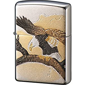 ZIPPO ライター 電鋳板 鷹 シルバーの関連商品10