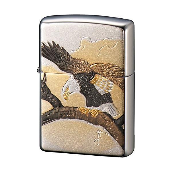 ZIPPO ライター 電鋳板 鷹 シルバーの商品画像