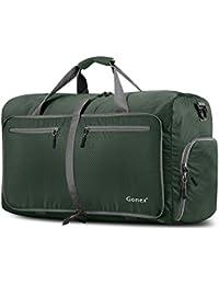 Gonex 折り畳みボストンバッグ 防水ナイロントートバッグ アウトドア 旅行 ジム キャンプ 適用 60L