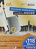 [csl] Discover Hong Kong Tourist SIM Card Nano Micro Mini 3 in 1 (8日間) [並行輸入品]